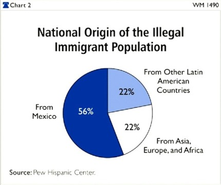 Illegal Alien origin chart