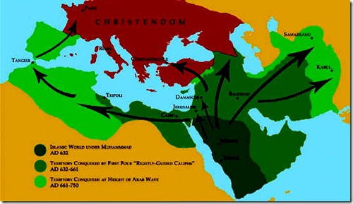 Muslim Wave 632 - 750 AD