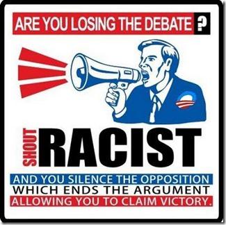 Shout Racist Win Debate