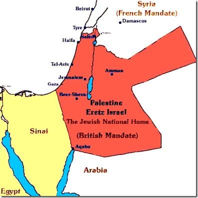 Jewish Homeland - Original Brit Mandate
