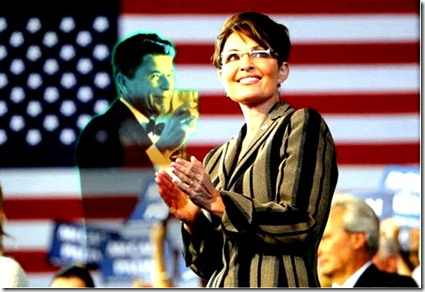 Palin - SuperImposed Reagan-Flag
