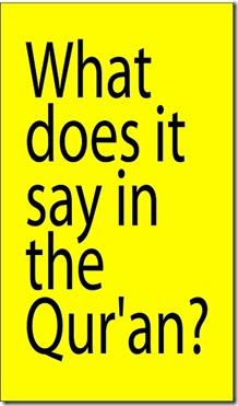 What's Quran say