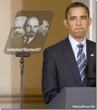 Obama Marxist-Teleprompter