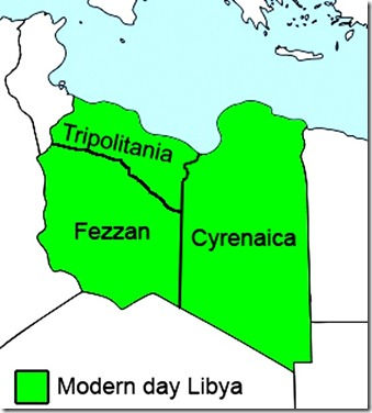 Libya in 3 Regions