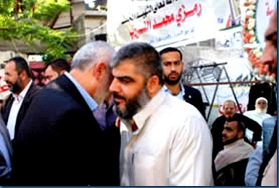 Kamal al-Nairab with Ismail Haniya 8-20-11