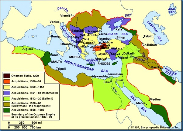 Ottoman Empire Apex Map