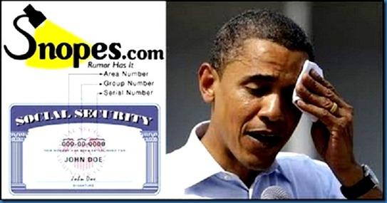 Snopes Obama SSN