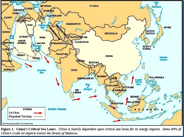 China Critical Sea Lanes