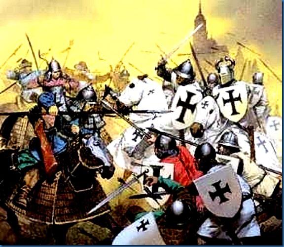 Crusader vs Muslim battle