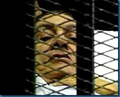 Mubarak in cage