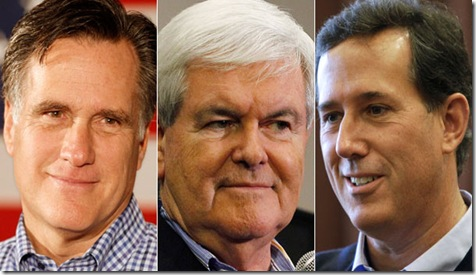 Romney, Gingrich and Santorum