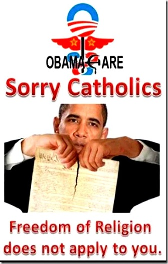 BHO- 1st Amend don't apply to Catholics