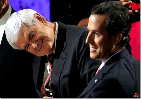 Gingrich and Santorum 2