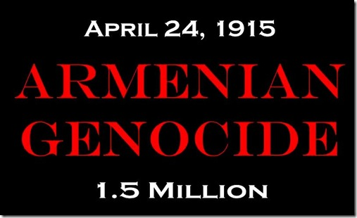 Armenian Genocide banner