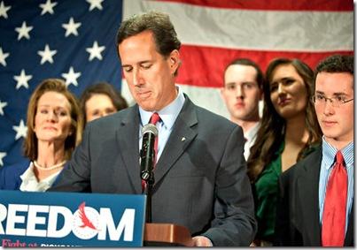 Santorum Suspending Campaign 4-10-12