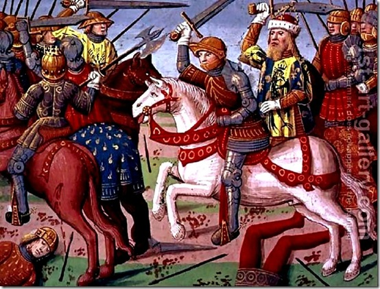 charlemagne and-his-army-fighting-the-saracens-in-spain-778-from-the-story-of-ogier