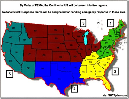 FEMA Governing Regions
