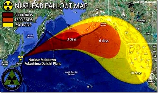 Fukushima Meltdown Map prediction