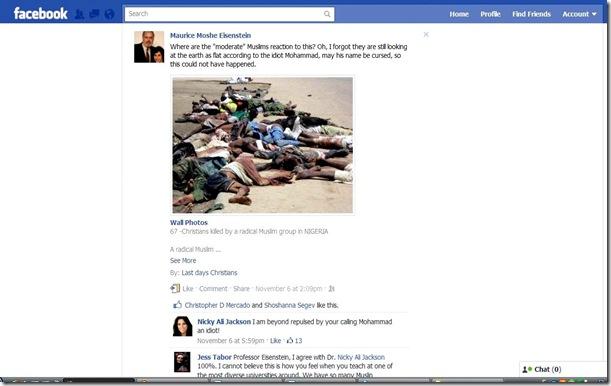 Maurice Eisensten Facebook Controversy