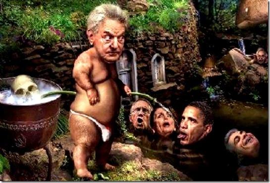 Soros Watering His Garden