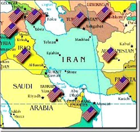 U.S. Military surrounding Iran