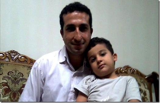 Youcef Nadarkhani and his son