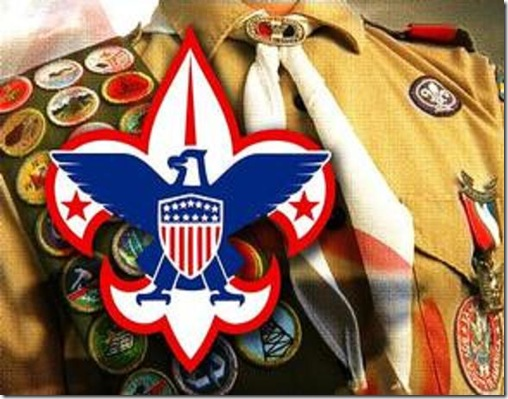 Boy Scout with Badges