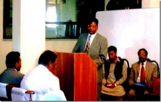 Hector Aleem Addressing Inter Faith Harmony prior arrest