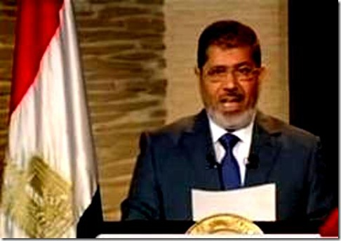 Mohammed Morsi speaks first televised address to Egypt
