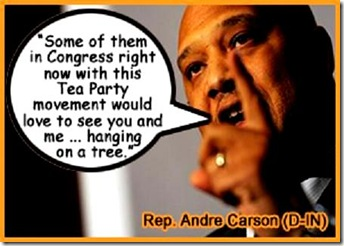 Andre Carson accusing Tea Party of racism