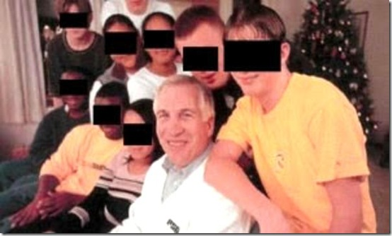 Jerry Sandusky & Bunch Kids