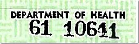 Obama BC Serial Number