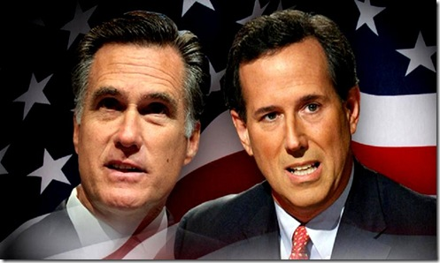 Romney-Santorum & US Flag