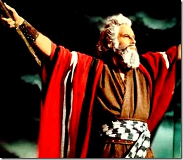Charleton Heston as Moses