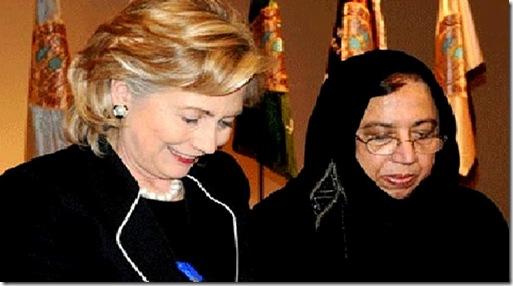 Hillary Clinton & Saleha S. Mahmood Abedin