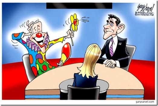 VP Debate 2012- Biden-Clown vs Ryan toon