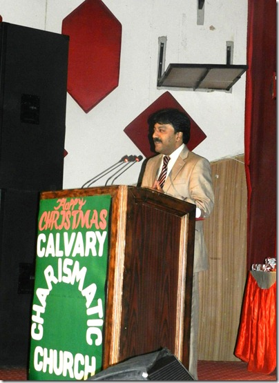 Albert David speaking - Church 2012