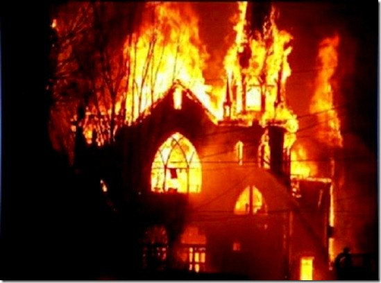 Church Torched by Muslims Pakistan