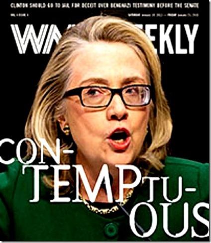 Hillary Contemptuous