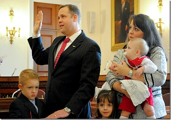 Jim Bridenstine & Family sworn in 1-4-13 OK mock ceremony