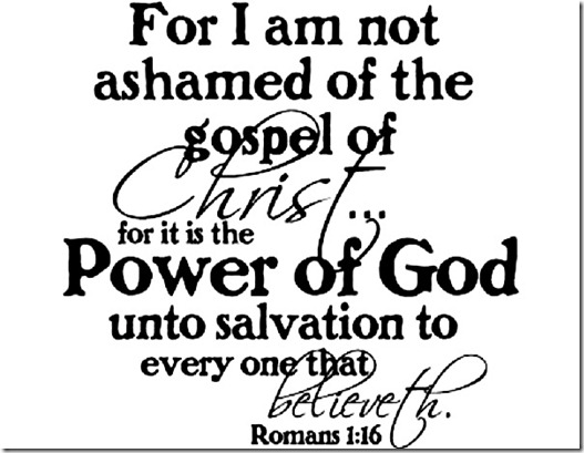Not Ashamed of JC - Rom 1-16
