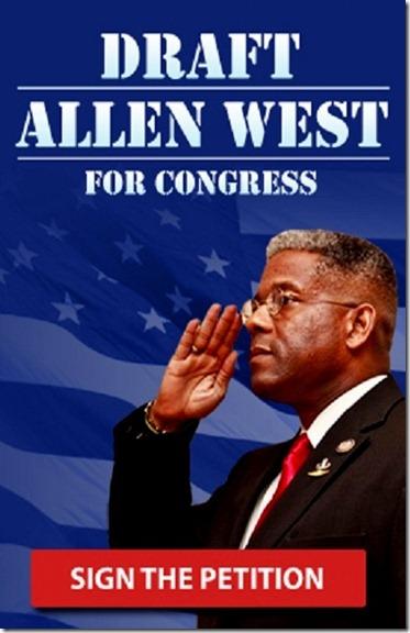 Allen West - Draft for Congress