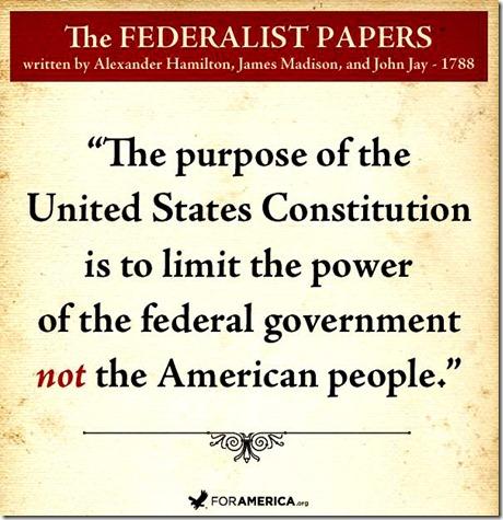 Constitution Purpose - Federalist Papers
