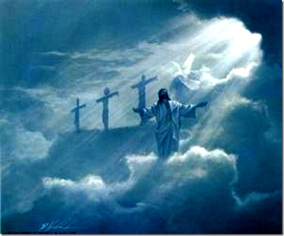 Vision Crucifixion, Christ, HS and Father