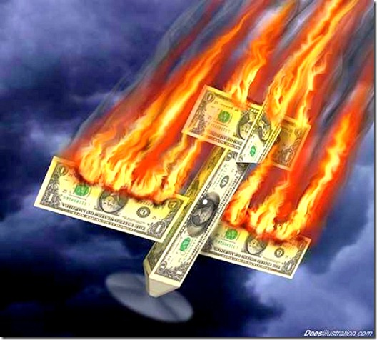 Dollar Crash like burning plane