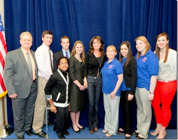 Palin with CPAC attendees and volunteers