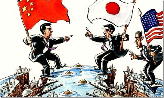 War- Japan-China and USA watching