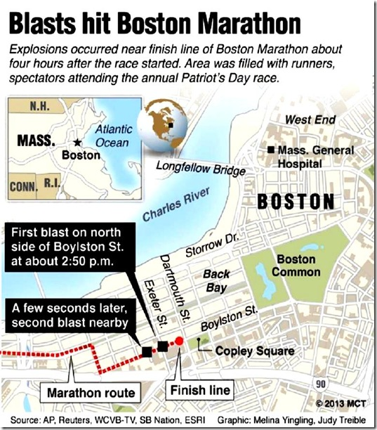 Boston Marathon Massacre map