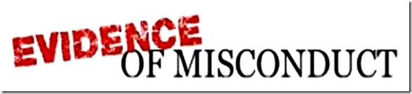 Evidence of Misconduct banner