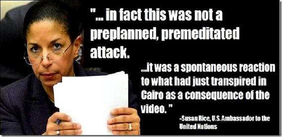 Susan Rice blaming anti-Islam video